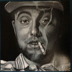 MAC MILLER - OLEO SOBRE TABLA -  60X60