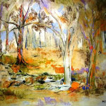 Bosque - Pastel s/papel