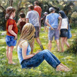 En el Parque - Óleo sobre lienzo – 40 x 40