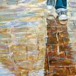 Tras la tormenta - Óleo sobre lienzo – 80 x 40