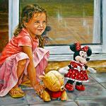 Tres muñecos  - Óleo sobre tabla – 70 x 50
