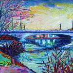 Puente sobre el Sena en Suresnes – Acrílico – 22x16