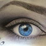 Blue eye.- Pastel sobre papel canson.- 24x32