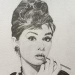 Audrey.- Grafito acuarelable.- 23x32,5