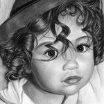 Un bomboncito Con Sombrero - Grafito y Carbón - 21x30