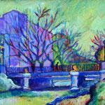 Puente sobre el Canal – Acrílico – 22x16