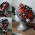 29 zandkleurige band, zwart oranje pantherpatroon