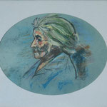"""Grand mère"" 20x30 pastel sec"