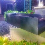 Auslaufschütte Corten Stahl