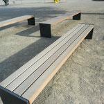Gartenbank Stahl-Holz Kombination