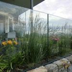 Brüstung aus Glas