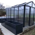 Garten und Freizeitprofi: 2 Stk. Hochbeete 195 x 77 x 77 cm (Farbe: anthrazit)