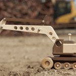 Construction-Grade Excavator Plan & Parts from WOOD Magazine
