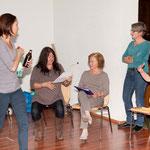 Probenspaß: Isabella, Denise, Irmi, Verena und Dagmar