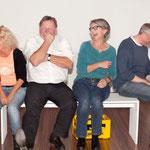 Probenspaß: Elke, Reinhard, Verena und Ralf