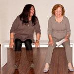 Probenspaß: Denise und Irmi