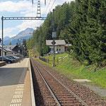 Schweizer-Eisenbahnen - Bahnhof Madulein