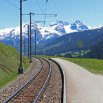 Schweizer-Eisenbahnen - Bahnhof Rueras