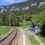 Schweizer-Eisenbahnen - Bahnhof Corcelles