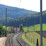 Schweizer-Eisenbahnen Bahnhof Corcelles