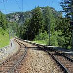 Schweizer-Eisenbahnen - Bahnhof Cadera