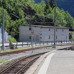 Schweizer-Eisenbahnen - Bahnhof Finhaut