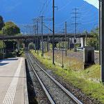 Schweizer Eisenbahnen - Bahnhof Zizers