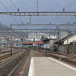 Schweizer-Eisenbahnen - Bahnhof Taverne-Torricella