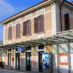 Schweizer-Eisenbahnen Bahnhof Agno