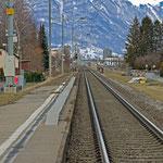 Schweizer-Eisenbahnen - Bahnhof Räfis-Burgerau