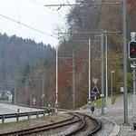 Schweizer-Eisenbahnen - Bahnhof Lüdem