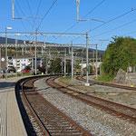 Schweizer-Eisenbahnen - Bahnhof Laufen
