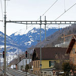 Schweizer-Eisenbahnen - Bahnhof Trübbach