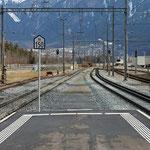 Schweizer-Eisenbahnen - Bahnhof Felsberg