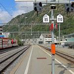 Schweizer-Eisenbahnen - Bahnhof Brig