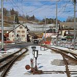 Schweizer-Eisenbahnen Bahnhof Montbovon