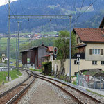 Schweizer-Eisenbahnen - Bahnhof Jenaz