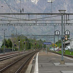 Schweizer-Eisenbahnen - Bahnhof Unterterzen