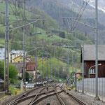 Schweizer-Eisenbahnen Bahnhof Unterterzen