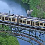 Juni 2016: Centovalli Bahn. Fotografiert bei Camedo. (Aufnahme vom Mai 2008).