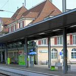Schweizer-Eisenbahnen - Bahnhof Spiez