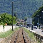 Schweizer-Eisenbahnen - Bahnhof Les Fumeaux