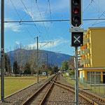 Schweizer-Eisenbahnen - Bahnhof Agno