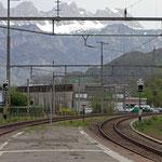 Schweizer-Eisenbahnen - Bahnhof Murg