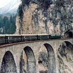 August 2015: Landwasser Viadukt (Aufnahme von 1979).