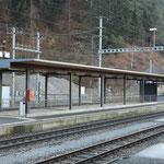 Schweizer-Eisenbahnen - Bahnhof Reichenau-Tamins