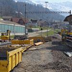 Schweizer-Eisenbahnen - Bahnhof Krummenau