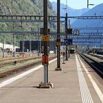 Schweizer-Eisenbahnen - Bahnhof Biasca