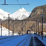 Schweizer Eisenbahnen Bahnhof Zernez