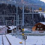 Schweizer-Eisenbahnen - Bahnhof Küblis